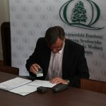 Podpisanie umowy z Wojewódzkim Funduszem Ochrony Środowiska i Gospodarki Wodnej w Toruniu - 30.05.2014
